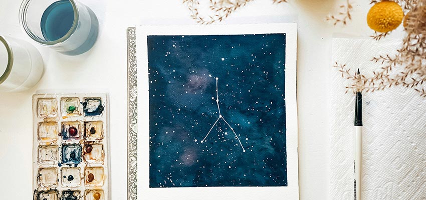 Virtual Workshop In A Box - Constellation Watercolors with Tram Colwin